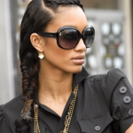 Side Fishtail Natural Hairstyle