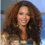 Beyonce Wearing Curly Natural Hairstyle