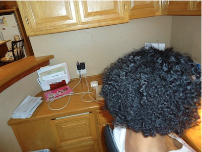 Henna Treatment on Natural Black Hair