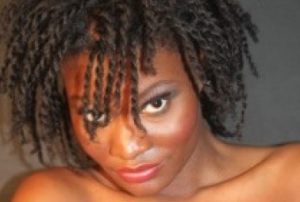 twist on stretched natural black hair