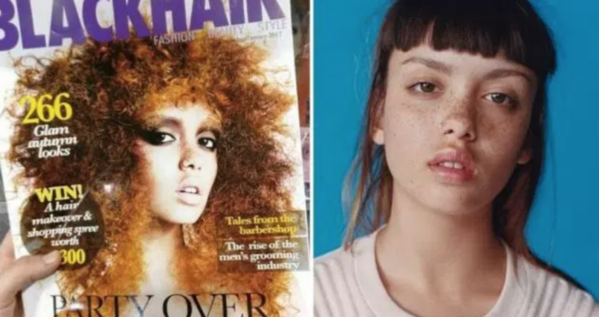 White Model Apologizes, Discusses Black Erasure, After Appearing on the Cover of a Black Hair Magazine